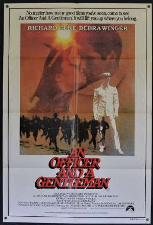 An Officer And A Gentleman Movie Poster Original One Sheet 1982 Richard Gere