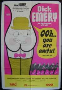 Ooh You Are Awful 1972 Dick Emery rare ORIGINAL One Sheet movie poster