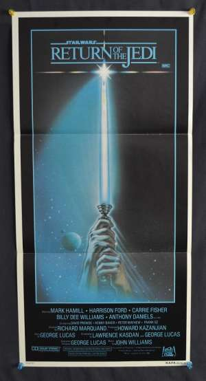 Return Of The Jedi Poster Australian Daybill Harrison Ford Mark Hamill