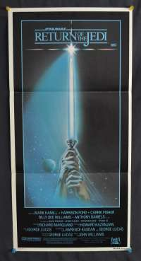 Return Of The Jedi Movie Poster Original Daybill 1983 Advance Saber Artwork