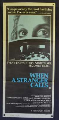 When A Stranger Calls Movie Poster Original Daybill 1979 Carol Kane Charles Durning