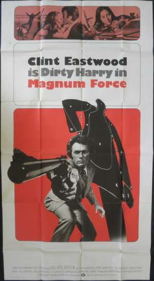 Magnum Force Poster Original Three Sheet 1973 Clint Eastwood Dirty Harry