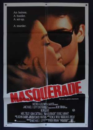 Masquerade 1988 One Sheet Movie poster Rob Lowe Meg Tilly Kim Cattrall
