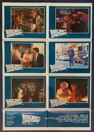Back To The Future Poster Original Photosheet 1985 Michael J Fox Christopher Lloyd