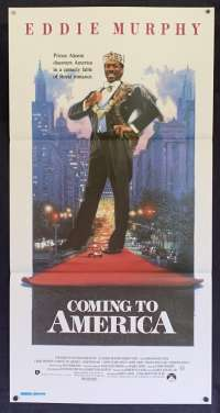 Coming To America 1988 movie poster Daybill Eddie Murphy Drew Struzan art
