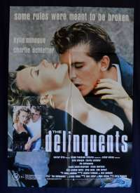 The Delinquents 1989 One Sheet Movie Poster Kylie Minogue Charlie Schlatter