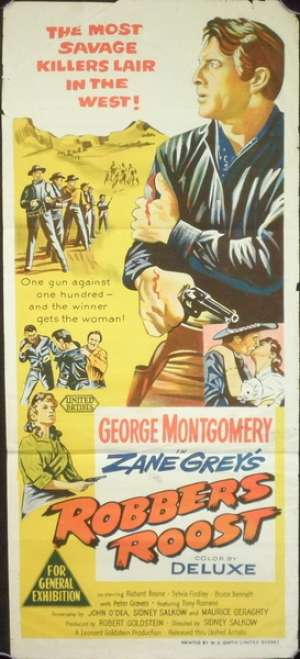 Robbers Roost (1955) Zane Grey Australian Daybill Movie Poster