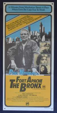 Fort Apache The Bronx Poster Paul Newman Vintage Daybill