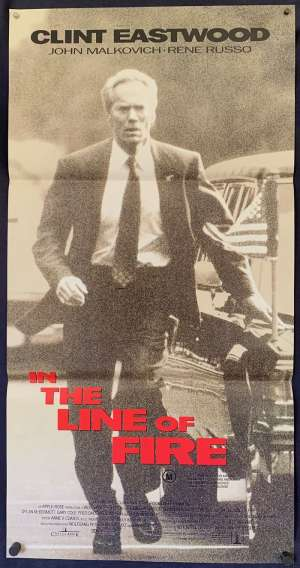 In The Line Of Fire movie poster Daybill Clint Eastwood