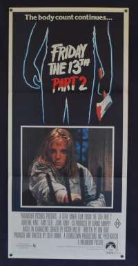Friday The 13th Part 2 1981 Daybill movie poster Slasher Horror Adrienne King