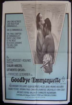 Goodbye Emmanuelle One Sheet Movie poster Sexploitation
