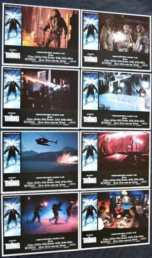 "The Thing Lobby Card Set 11"" x 14"" USA 1982 Kurt Russel John Carpenter"