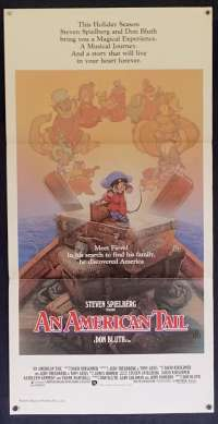 An American Tail Poster Original Daybill 1986 Drew Struzan Art Don Bluth Spielberg
