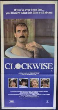 Clockwise Poster Original Daybill 1986 John Cleese Comedy