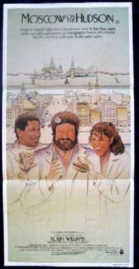 Moscow On The Hudson Poster Robin Williams Daybill