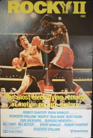 Rocky 2 One Sheet movie poster Sylverster Stallone Boxing