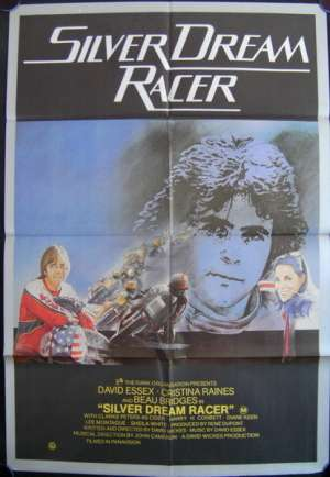 Silver Dream Racer Poster Original One Sheet 1980 David Essex Biker