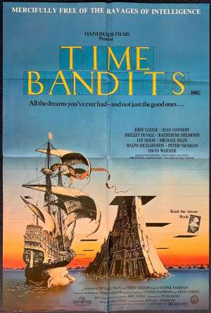 Time Bandits Poster Original One Sheet 1981 Monty Python John Cleese