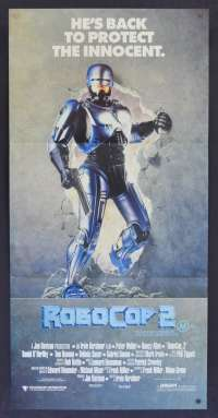 RoboCop 2 movie poster Daybill Peter Weller Nancy Allen