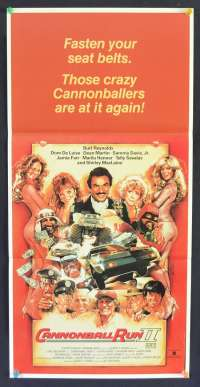 The Cannonball Run II 1984 Daybill movie poster Burt Reynolds Struzan art
