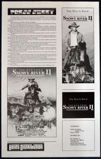 Man From Snowy River II Movie Press Sheet Tom Burlinson Sigrid Thornton