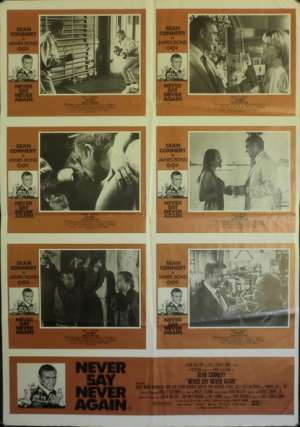 Never Say Never Again Sean Connery Photosheet Australian movie poster