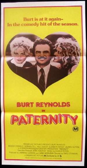 Paternity Movie Poster Original Daybill Burt Reynolds Beverly D'Angelo Lauren Hutton