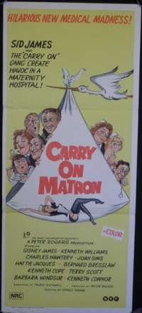 Carry On Matron Sid James vintage Daybill movie poster