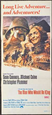 The Man Who Would Be King movie poster Sean Connery Michael Caine Daybill