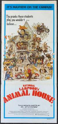 National Lampoon's Animal House 1978 John Belushi Daybill movie poster