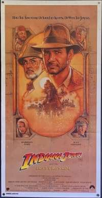 Indiana Jones And The Last Crusade 1989 Daybill movie poster Harrison Ford Sean Connery