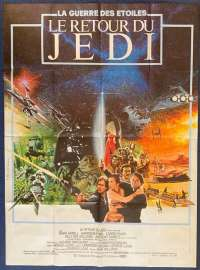 "Return Of The Jedi Poster Original French One Panel ""Grande"" 1983 Star Wars"