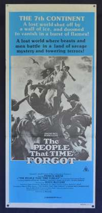 The People That Time Forgot Movie Poster Original Daybill Doug McClure Patrick Wayne