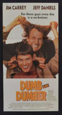 Dumb And Dumber poster Daybill original Jim Carrey Jeff Daniels Farrelly brothers