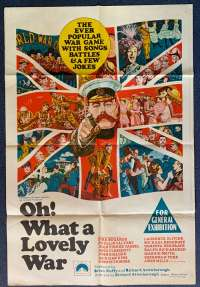 Oh What A Lovely War Poster Original One Sheet 1969 Kenneth Moore Vintage