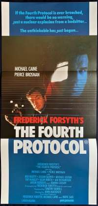 The Fourth Protocol Poster Original Daybill Michael Caine Pierce Brosnan