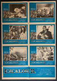 Excalibur Movie Poster Original Photosheet 1981 Helen Mirren Nigel Terry King Arthur