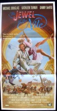The Jewel Of The Nile movie poster Michael Douglas Daybill