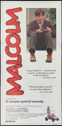Malcolm Movie Poster Original Daybill Colin Friels John Hargreaves