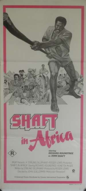 Shaft In Africa Daybill Movie poster