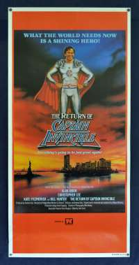 The Return Of Captain Invincible Poster Original Daybill 1983 Bill Hunter Superhero