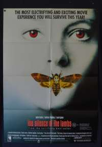 The Silence Of The Lambs 1991 One Sheet movie poster Jodie Foster Anthony Hopkins Horror