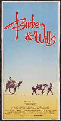 Burke And Wills 1985 movie poster Jack Thompson Chris Haywood Australian Daybill