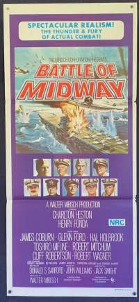 Battle Of Midway Poster Original Daybill 1976 Charlton Heston Henry Fonda