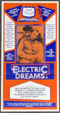 Electric Dreams 1984 Daybill movie poster Maxwell Caulfield Giorgio Moroder