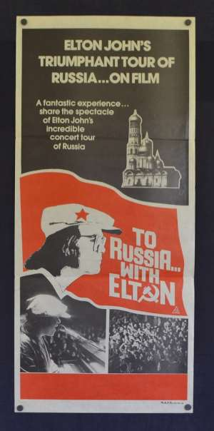 To Russia With Elton Poster Original Daybill 1979 Elton John Concert Russia