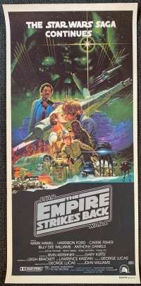 The Empire Strikes Back 1980 Daybill movie poster Harrison Ford Mark Hamill Carrie Fisher