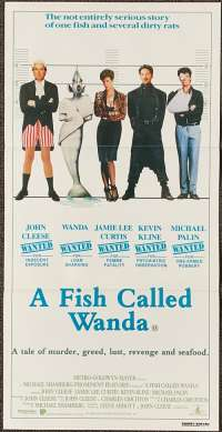 A Fish Called Wanda Movie Poster Original Daybill 1988 John Cleese Michael Palin