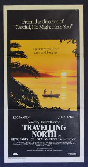 Travelling North Movie Poster Original Daybill 1987 Leo McKern Julia Blake