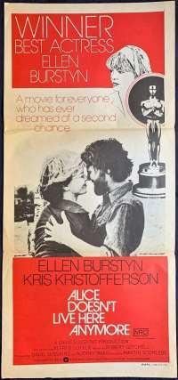 Alice Doesn't Live Here Anymore Poster Original Daybill 1974 Ellen Burstyn